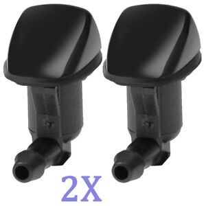 A Pair Windshield Wiper Water Washer Nozzle For 2008-2012 Chevrolet Malibu NEW
