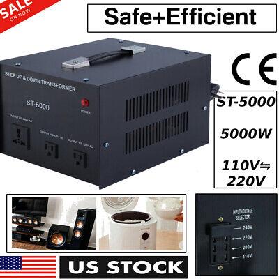 Power Converter Voltage Transformer Step Down 220-230 Volt To 110v Adapter 5000w