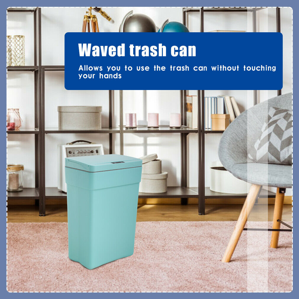 13 Gallon Kitchen Trash Can Plastic Automatic Touch Free Garbage Can 50L General Household Supplies