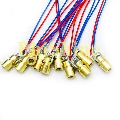10PCS 650nm 5mW Laser Dot Diode Module Red Laser Diode Laser Head 5V φ -