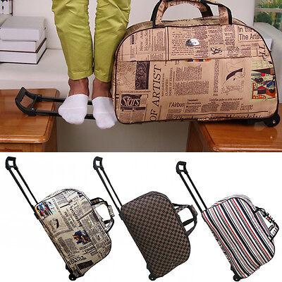 1411b9a3b9b Ladies Travel Bag Holdall Hand Luggage Womens Weekend Handbag Wheeled  Trolley HT