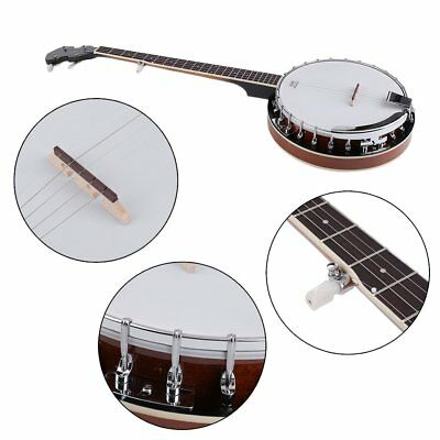 Traditional 5-String Bluegrass Western Banjo Guitar Ukulele Remo Head Beginners
