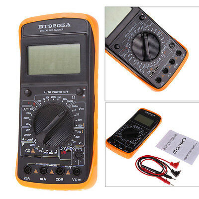 Lcd Digital Multi-meter Acdc Ammeter Resistance Capacitance Tester Dt9205a Usa