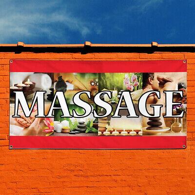 Vinyl Banner Sign Massage Business Business Massage Marketing Advertising Brown