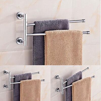 Edelstahl Schwenkbar Doppel Handtuchhalter Handtuchstange Wandhandtuchhalter Bad