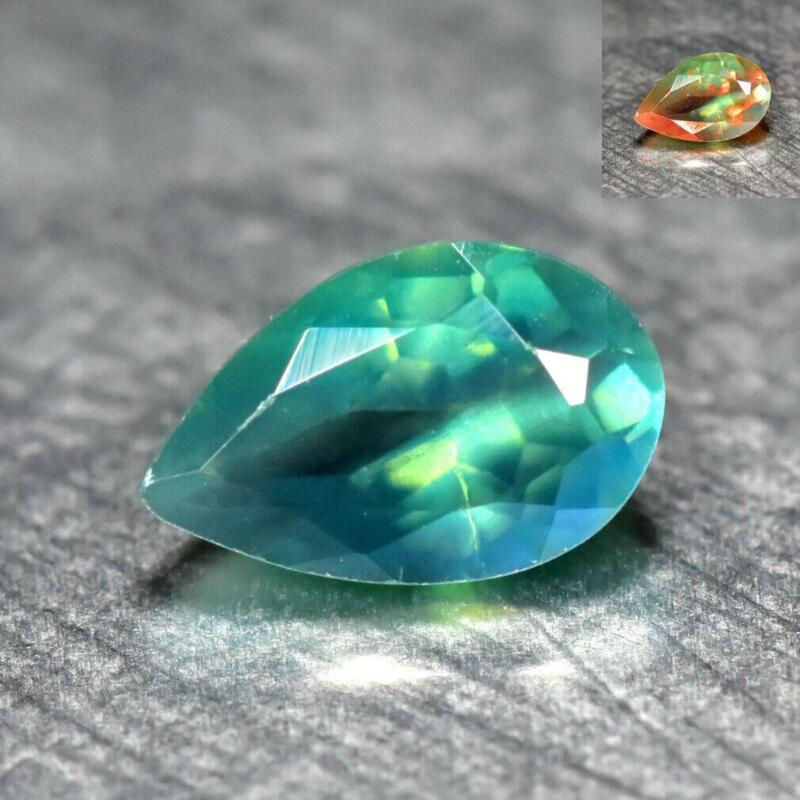 0.34CT GOOD QUALITY 100% NATURAL COLOR CHANGE ALEXANDRITE from SRILANKA GEMSTONE