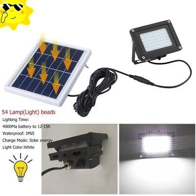 54 LED Waterproof Solar Powered Sensor Flood Light Outdoor Garden Security Lamp