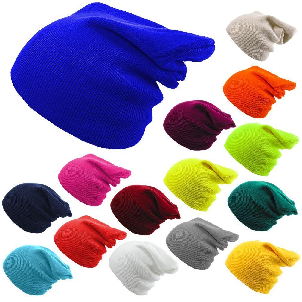 mütze Herren Damen Gestrickt Wollig Winter übergroße Slouch bad Hut Kappe pop