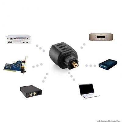 Adaptador de audio óptico Conector hembra de 3,5 mm a macho Toslink...