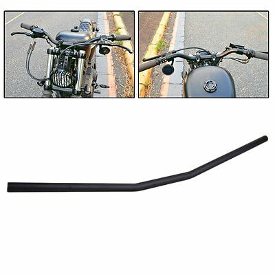 "7/8"" Black Motorcycle Zero Drag Bars Handlebars For Honda Suzuki Yamaha Ducati Y"