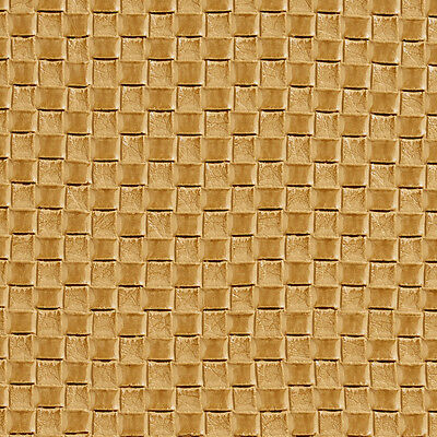 G000 Golden Yellow, Woven Rattan Faux Leather Upholstery Vinyl By The Yard