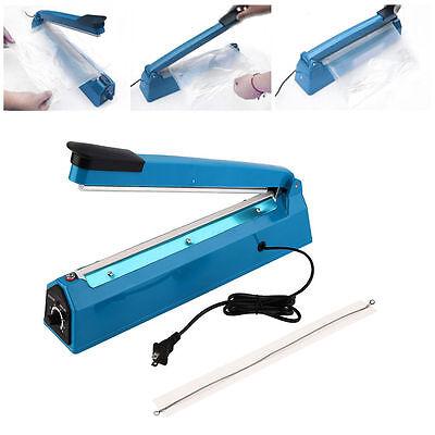 12300mm Manual Impulse Heat Sealer Poly Bag Machine Shrink Wrap Free Element Fg