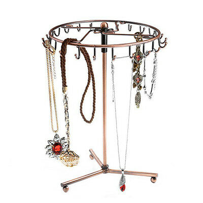 23 Hooks Rotating Jewelry Tree Holder Organizer Bracelet Necklace Display Stand