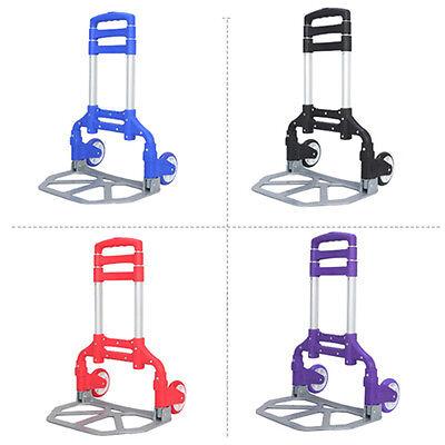 Portable Folding Hand Truck Dolly Utility Cart 170 Lbs Load Capacity Us Stock