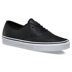 Vans-Autentico-PIEL-PREMIUM-Zapatillas-de-hombre-Negro