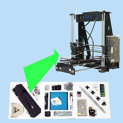 Anet A8 FDM 3D Printer Precision Reprap Prusa i3 DIY & LCD in USA