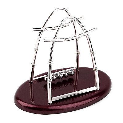 Hot Newton's Cradle Steel Balance Ball Physics Science Pendulum Desktop Gift BS