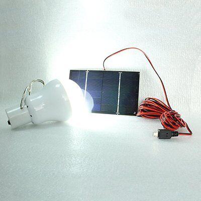 Akku LED Camping Lampe mit Solar-Panel Outdoor Laterne Gartenleuchte Zeltlampe