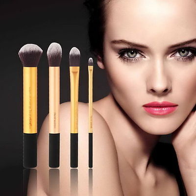 New Professional 4pcs Synthetic Hair Bamboo Handle Makeup Brush Set OE on Rummage