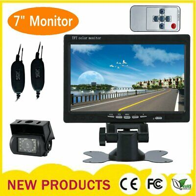 7 TFT LCD Car Rear View Backup Monitor+Wireless Parking Night Vision