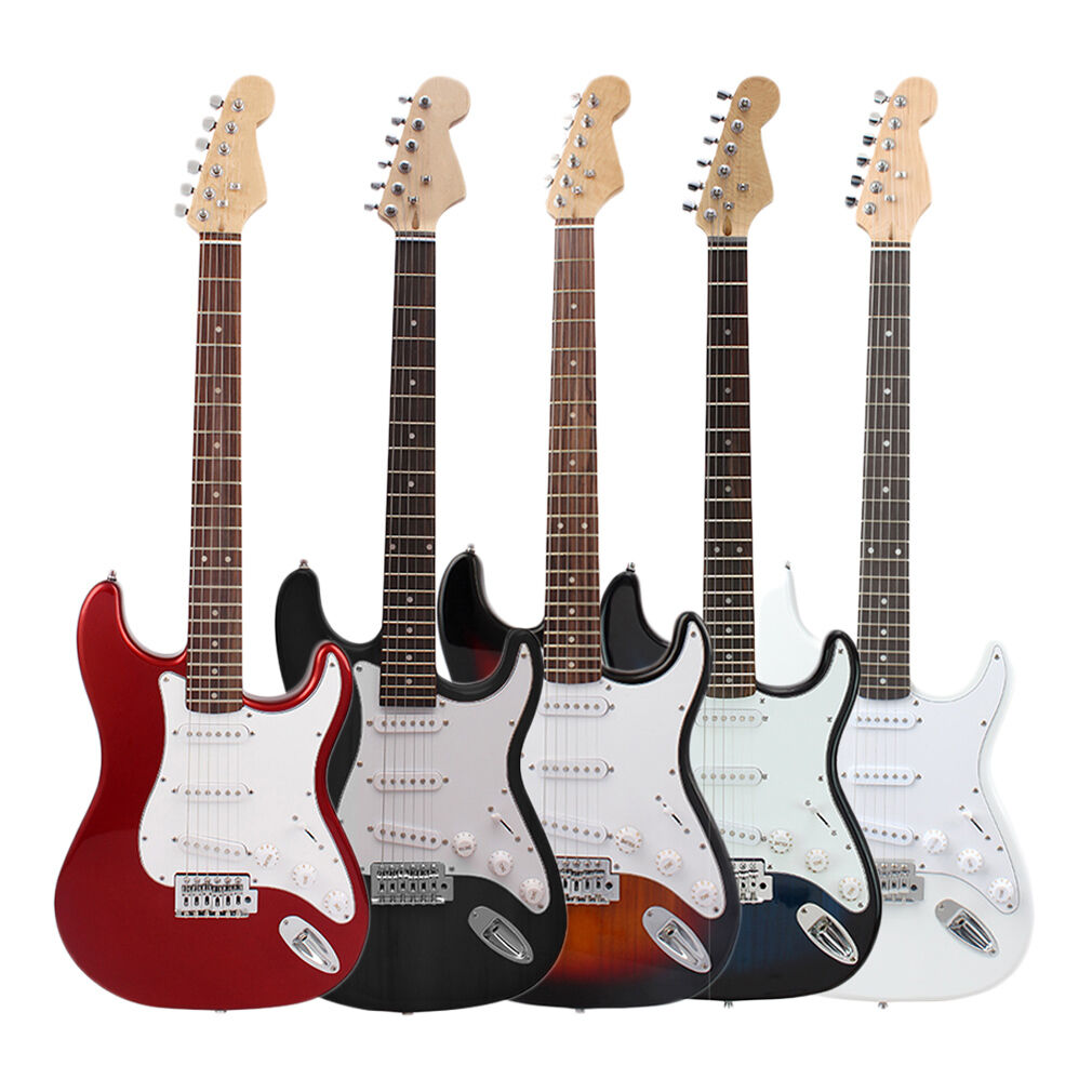 basswood electric guitar lead steel strings full size beginner free bag ebay. Black Bedroom Furniture Sets. Home Design Ideas