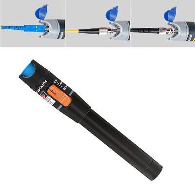Black 10km Visual Fault Locator Fiber Optic Laser Cable Tester Test Equipment