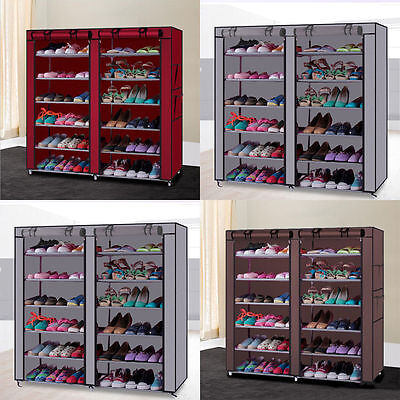 10Tier 30/50 Pair Space Saving Storage Organizer Free Standing Shoe Tower Rack V