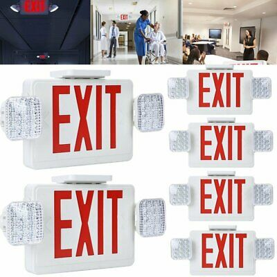 Led Exit Sign Red Exit Light 2 - 10 Packemergency Exit Combo Lightlighted Exit