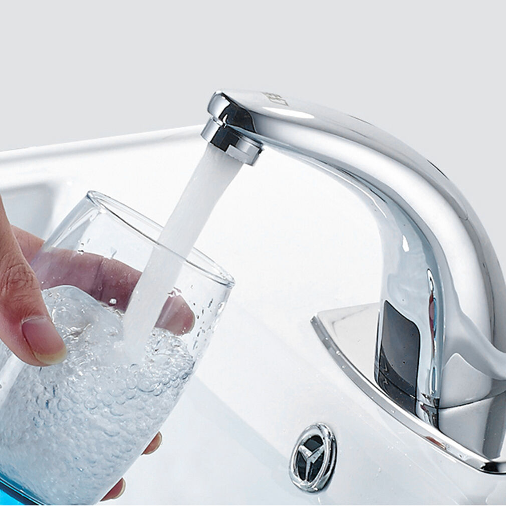 Automatic Touchless Bathroom Sink Faucet - Commercial Hands Free Tap ...