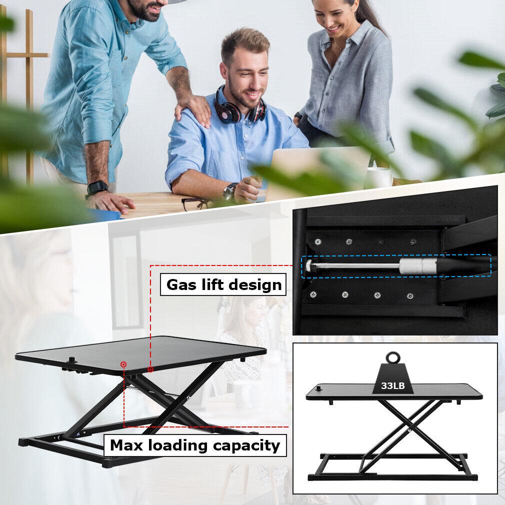 Standing Desk Computer Workstation Standard Office Height Adjustable  29″ Furniture