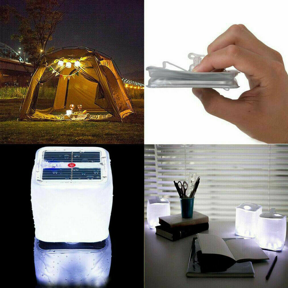LED Foldable Solar Power Inflatable Tent Camping Light Emergency Lamp A1K5