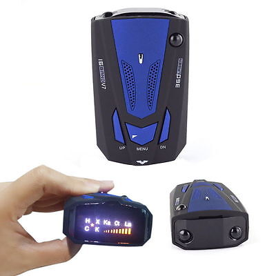 New Car Radar Detector 16 Band Voice Alert Laser V7 LED Display EW