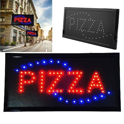 Ultra Bright Pizza Animated Motion Led Restaurant Sign Neon Light 19x10 Inch Ma