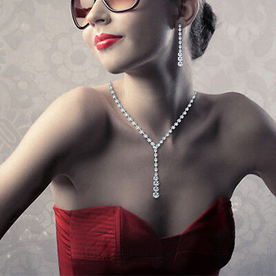 Fashion Women Jewelry Chain Pendant Crystal Choker Chunky Statement Bib Necklace
