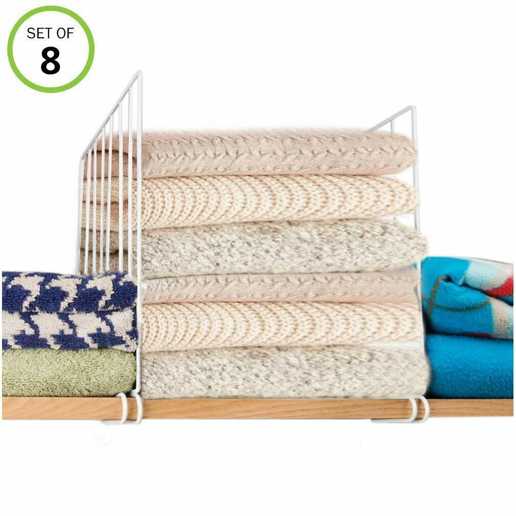 8 Pack Closet Shelf with 16 Dividers for Closet Organizer, W