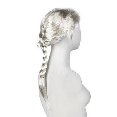 New Princess Elsa Anna Snow Queen Frozen Weaving Braid Cosplay Wig Kids Adult JJ](Princess Anna Wig)