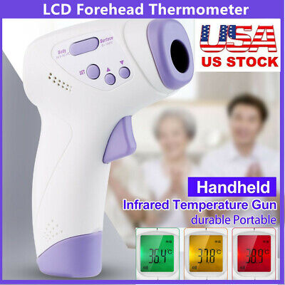 Digital LCD Infrared Thermometer Gun Non-contact Forehead Adult Baby Temperature