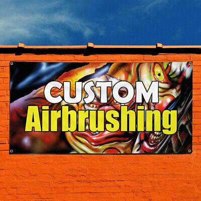 Vinyl Banner Sign Custom Airbrushing Business Marketing Advertising White