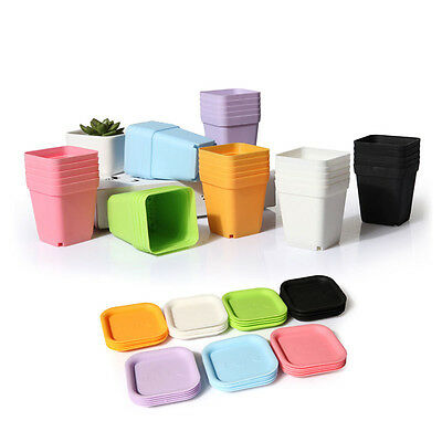 10x Plastic Plant Flower Pots Mini Planter Decorative Pot Macetas Tiestos Potes