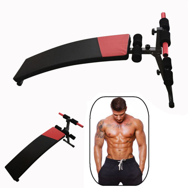Great Folding Adjustable Ab Sit Up Decline Home Gym Crunch Fitness Exercise Bench
