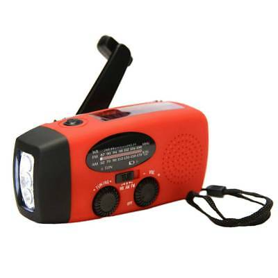 Emergency Hand Crank Generator AM/FM/WB Radio Flashlight Charger HY-88WB