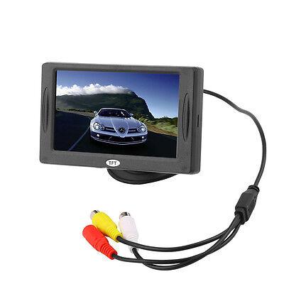 4 3 tft farb monitor auto kfz lcd bildschirm display f r. Black Bedroom Furniture Sets. Home Design Ideas