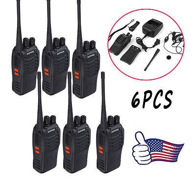 Police Walkie Talkie (6 Pack Walkie Talkie Headset Two Way Radio 2 Long Range Security Patrol Police)