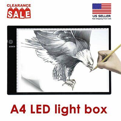 A4 USB LED Artist Tattoo Stencil Board Light Box Tracing Drawing Board Pad USA