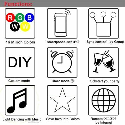 Wifi RGB RGBW Led Kontroller Controller Steuerung für Android IOS Echo Alexa
