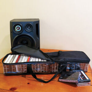 Evelots Cassette Tape Carrying Case, Protective Storage Bag, Holds 30 Cassettes