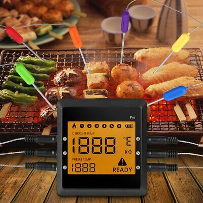 Instant Digital Meat Thermometer Electronic Wireless Bluetooth BBQ Grill Food