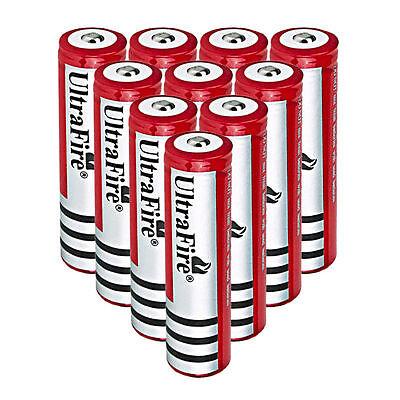 10PCS UltraFire BRC Li-ion 18650 Battery 4000mAh 3.7V Rechargeable Batteries USA on Rummage