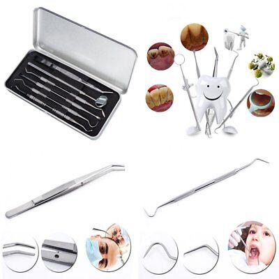 6pcs Stainless Steel Dental Tools Dentist Teeth Kit Clean Hygiene Pick Probe Lk