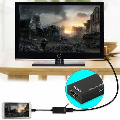 Universal MHL Micro USB To HDMI Cable 1080P HD TV Adapter Android Phones Tablet